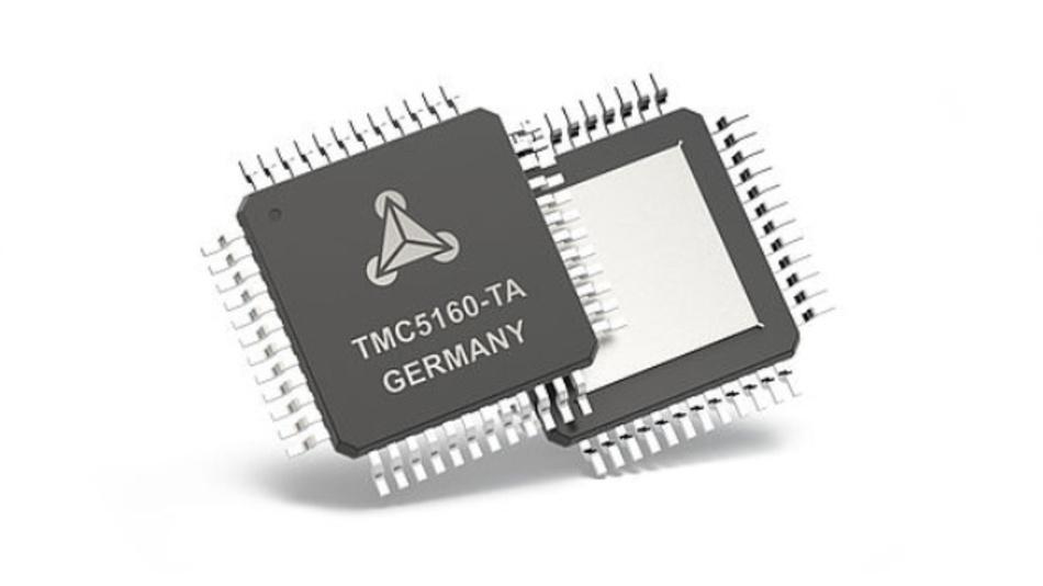 Mit dem TMC5160 erweitert Trinamic seine Produktfamilie von TMC2100, TMC2130 und TMC5130 auf größere Hochstrom-Schrittmotoren.