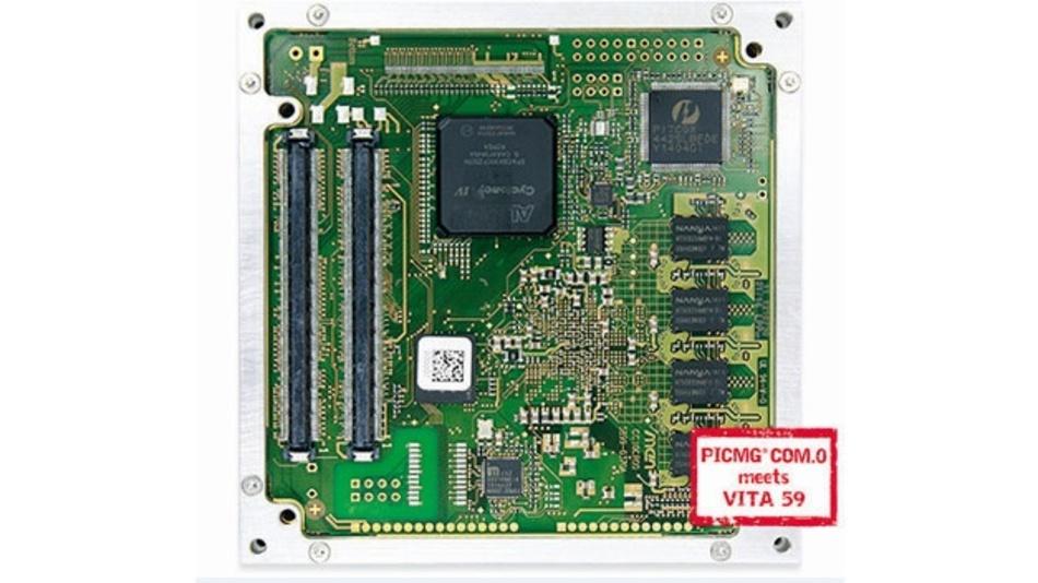 Das standardmäßig verfügbare FPGA auf dem Rugged-COM-Express-Modul CC10C mit ARM-i.MX6-Prozessor sorgt für flexible, kundenspezifisch anpassbare I/Os.