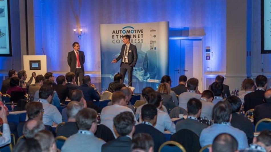 Rund 900 Teilnehmern, Referenten und Ausstellern nahmen am vierten Automotive Ethernet Congress der Elektronik automotive teil, der am 30. und 31.01.2018 im Hilton Munich Park stattfand. Der Vortragssaal war dementsprechend gut gefüllt.