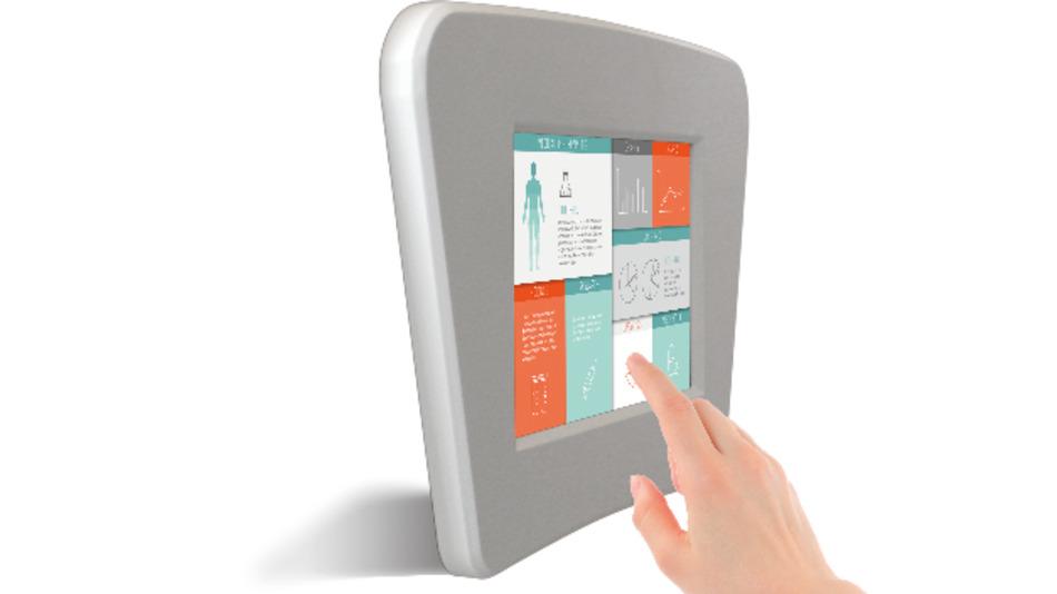 Industrie-Display mit iPhone-Benutzerführung: Im Display ist eine 3D-Touch-Bedienung integriert, wie sie vom iPhone 6s bekannt ist.