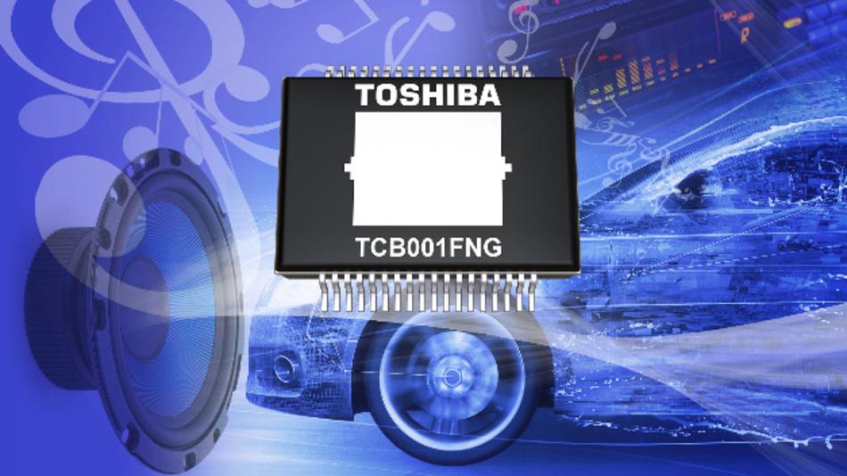 Der Leistungsverstärker-IC TCB001FNG in CMOS-Technik von Toshiba.