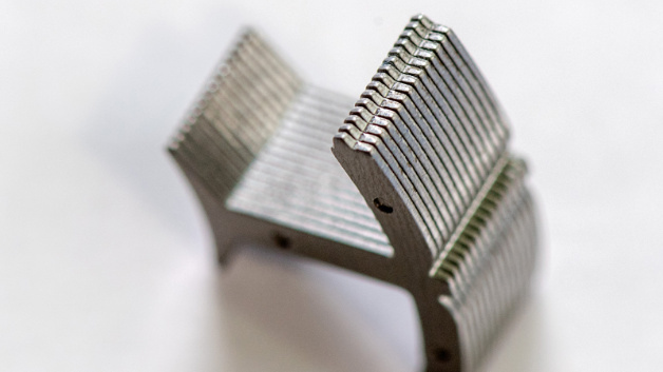 Blechpaket eines segmentierten Stators.