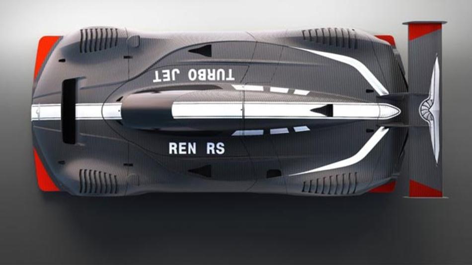 Techrules stellt auf dem Genfer Autosalon einen den RS Ren, einen 1305 PS-starken Rennwagen mit Elektroantrieb vor.