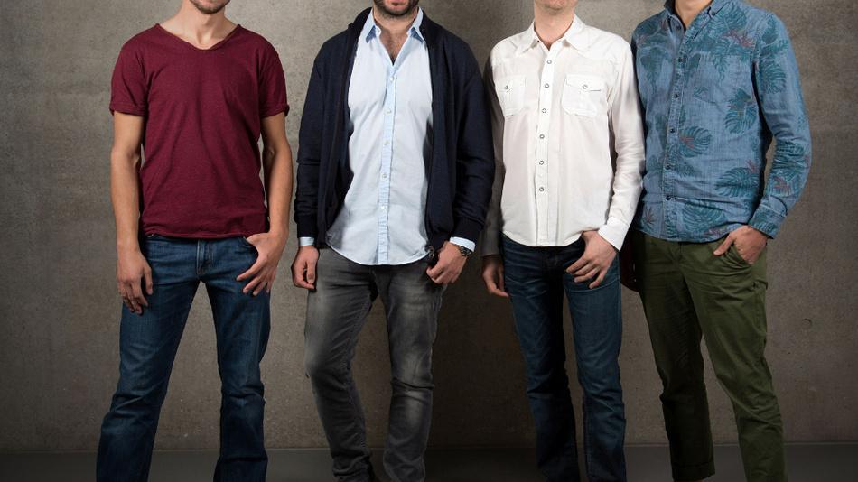 Das vierköpfige Gründerteam des Start-ups Otego.