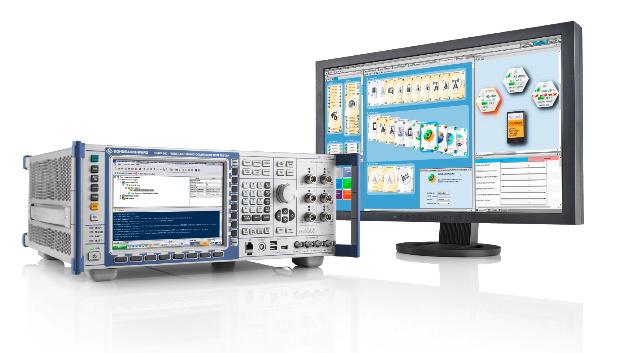 Die Testplattform R&S CMW500 simuliert aus Feldtest-Daten Testszenarien für LTE- und LTE-Advanced-Module.