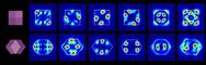 In einem Rhombendodekaeder sind bis zu sechs optische Resonanzmoden möglich.