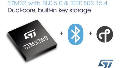 STMicroelectronics bringt einen mehrprotokollfähigen System-on-Chip-Baustein für Bluetooth und 802.15.4 zum Einsatz in der nächsten Generation von IoT-Geräten