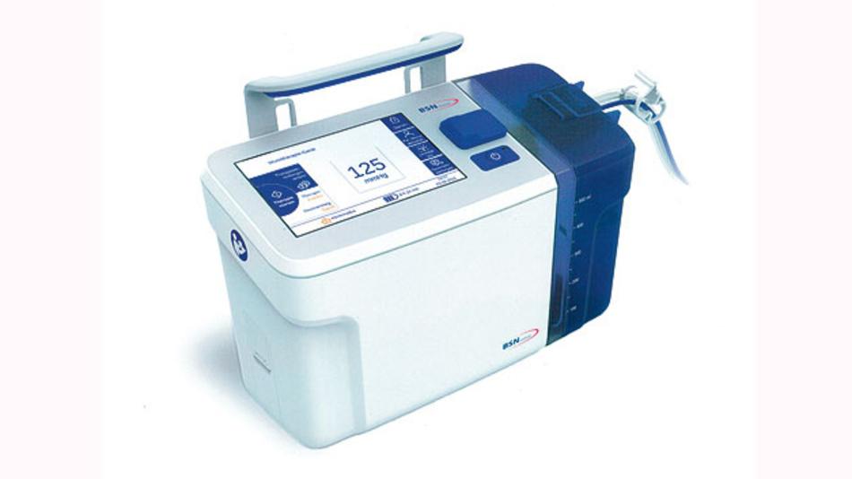 Bild 2. Therapieeinheit für die Unterdruck-Wundversorgung. Das Gerät soll möglichst lange autark unabhängig vom Stromnetz betrieben werden.