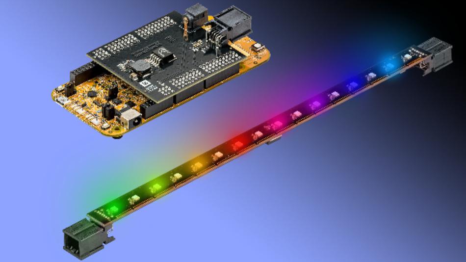 ISELED ist ein neues Konzept für LED-Beleuchtungen im Fahrzeug-Innenraum. Es sorgt für deutlich weniger Systemkosten, verringert die Komplexität, vereinfacht die Ansteuerung und erlaubt es, mit Hilfe dynamisch wechselnder Lichteffekte unverwechselbare Beleuchtungsszenarien zu entwerfen.