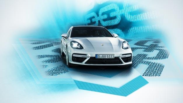 Porsche bringt erstmals Blockchain ins Fahrzeug.