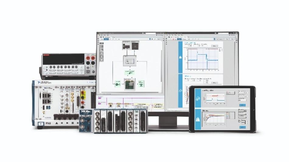 LabVIEW NXG wurde für die Automatisierung von größeren Testsystemen entwickelt und unterstützt die Entwicklung von browserbasierten Benutzeroberflächen.