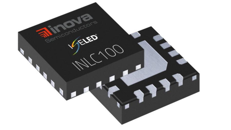 ISELED-Treiber als Einzelchip: Inova Semiconductors stellt den INLC100 Treiber-IC im 16-Pin-Gehäuse erstmals auf der embedded world 2018 vor.