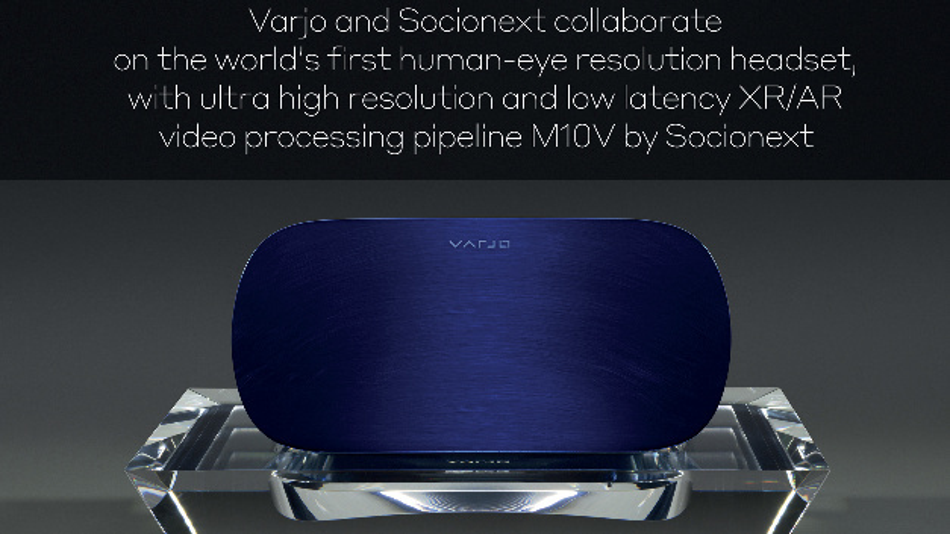 So sollen die neuen VR-Headsets von Varjo aussehen, die auf der Bildverarbeitungs-Prozessor von Socionext basieren.