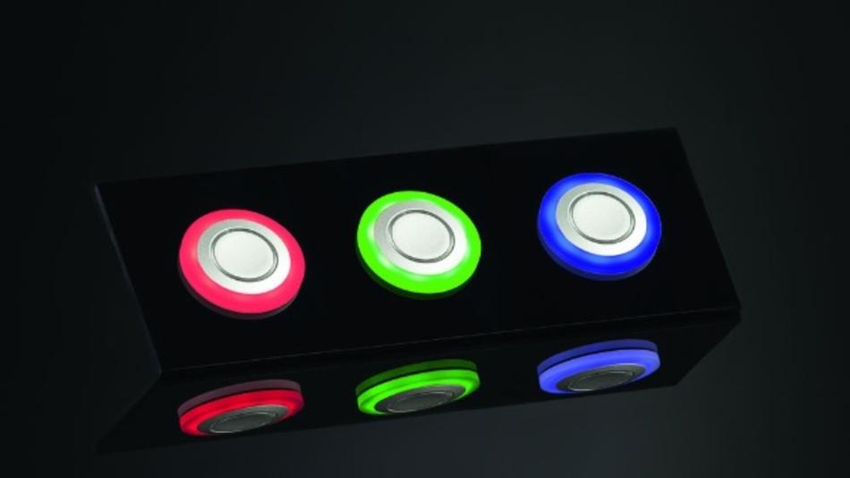Bild 1: Verschiedenfarbige Leuchtringe dienen zur Statusanzeige oder zur Illumination.