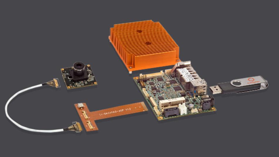 Um eine anwendungsfertige Lösung handelt es sich beim MIPI-CSI-2-Smart-Camera-Kit von Congatec.