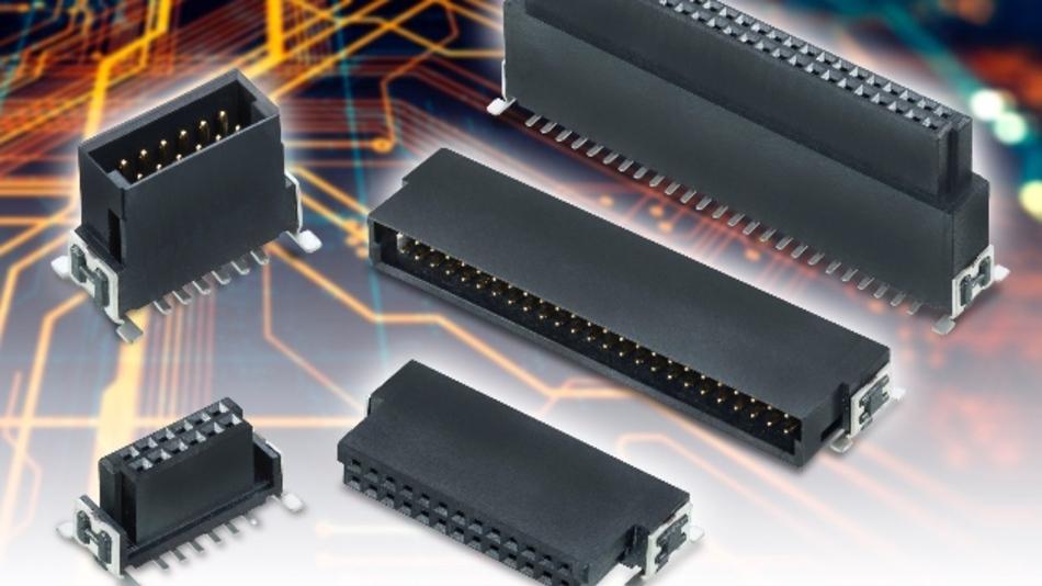 Die stapelbaren Board-to-Board-Steckverbinder von Darwin genügen den hohen Ansprüchen industrieller Umgebungen.