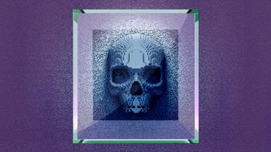 Totenkopf in 3-D-Optik