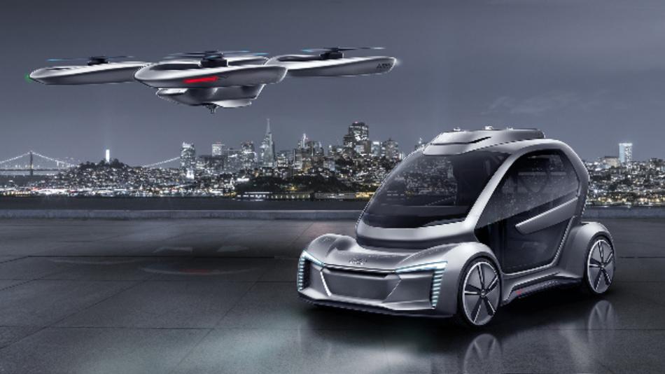 Mit »Pop.Up Next« sollen Menschen schnell und komfortabel entweder auf der Straße oder in der Luft transportiert werden.