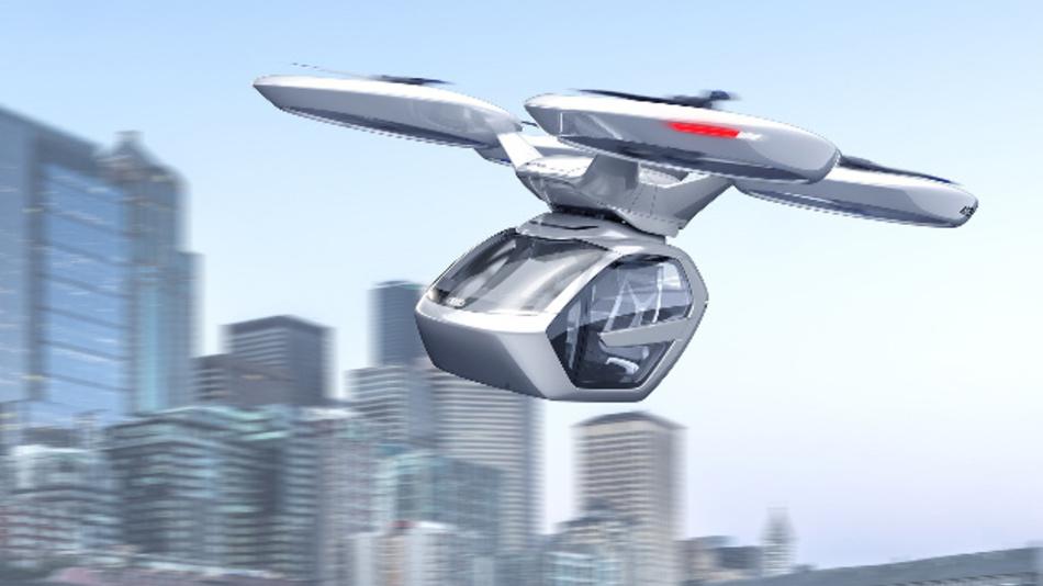Die Passagierkabine kann bei Bedarf mit dem Flugmodul gekoppelt werden – Mobilität in der dritten Dimension.