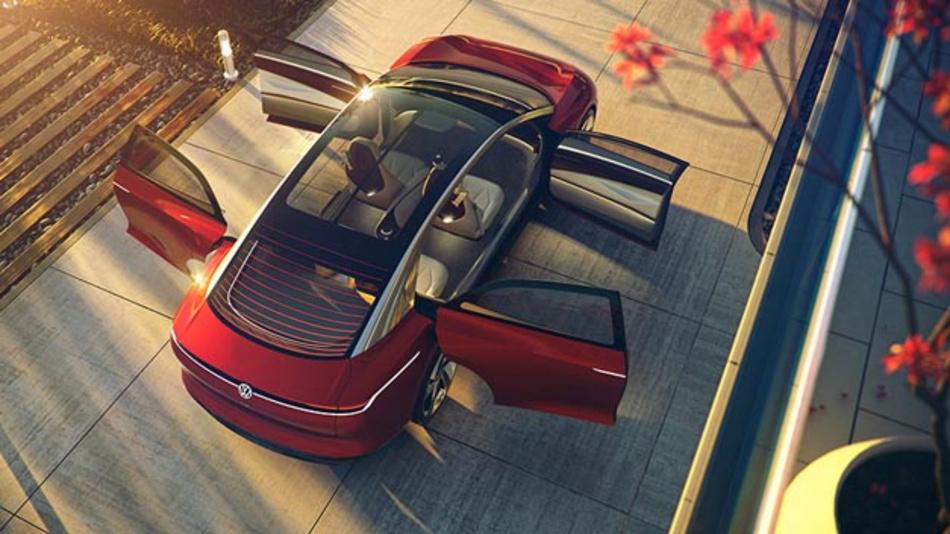 In Genf feiert die Volkswagen-Studie I.D. Vizzion ihre Weltpremiere.