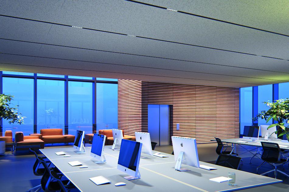 Titelbild: Mit dem Einzug digitaler Arbeitsmittel veränderten sich auch die Anforderungen an die Büroausleuchtung erheblich.