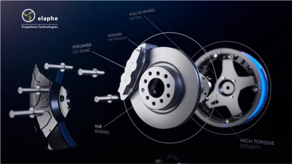 Der Motor der Elaphe In-Wheel-Technik erzeugt das hohe Drehmoment direkt im Rad.