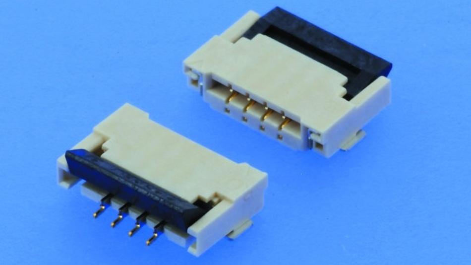 ZIF-Steckverbinder (Zero Insertion Force) sind überall dort einsetzbar, wo werkzeugloses Verbinden mit hohen Haltekräften auf kleinstem Raum gefordert wird.