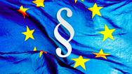 Europafahne mit §-Symbol