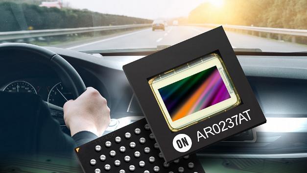 Der CMOS-Bildsensor AR0237AT ist für den Einsatz im Kraftfahrzeug ausgelegt.
