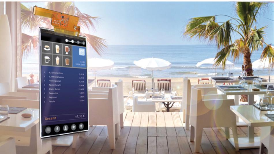 Mobile Anwendungen adressiert Ortustech mit dem im Portrait-Modus betriebenen,  sonnenlichttauglichen 5-Zoll-TFT-Display COM50H5N03ULC im Vertrieb von Data Modul.