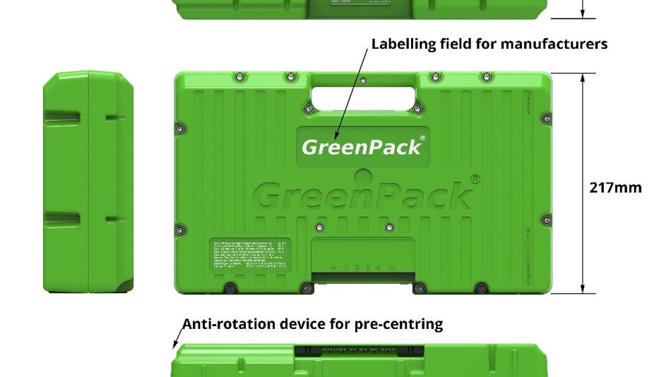 Wer es ganz einfach mag, der kann entladene Greenpack-Akku-Packs (Kapazität bis zu 1.400 Wh) seit kurzem in Berlin vor einigen großen Supermärkten in Pfandautomaten, vergleichbar einer Gasflasche, gegen volle Akku-Packs austauschen.