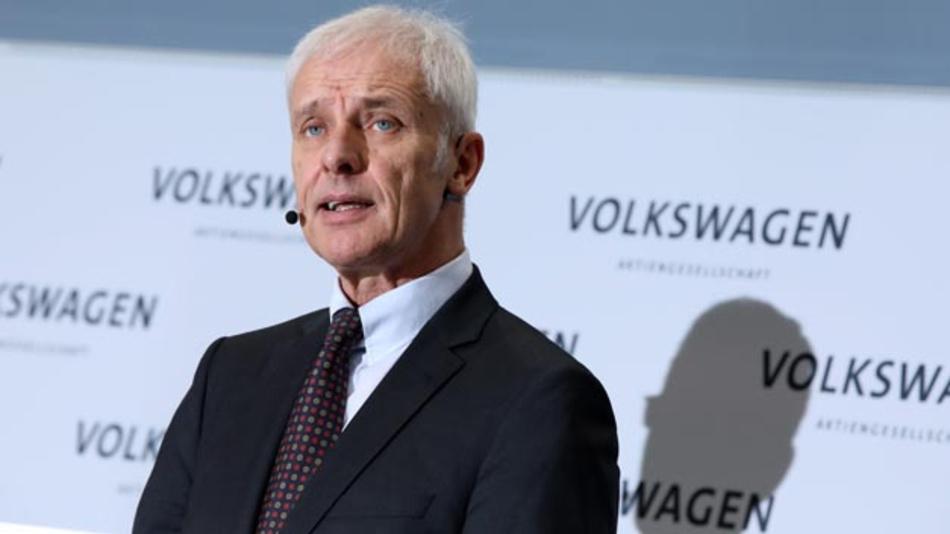 Auf der Jahrespressekonferenz des Volkswagen-Konzerns stellte der Vorstandsvorsitzende Matthias Müller den Geschäftsbericht für 2017 vor.
