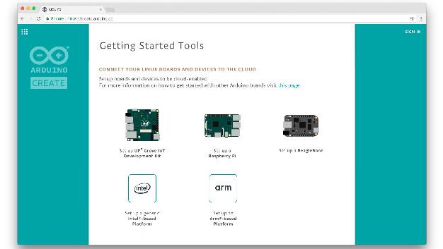 Arduino Create unterstützt die Bereitstellung von Arduino-Skizzen auf einer breiten Palette von Linux-IoT-Geräten und Single-Board-Computern.