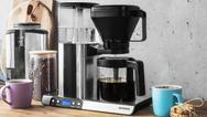 Filtermaschine bem Kaffeezubereitung