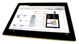 Tablet mit einem dargestellten Schaltplan
