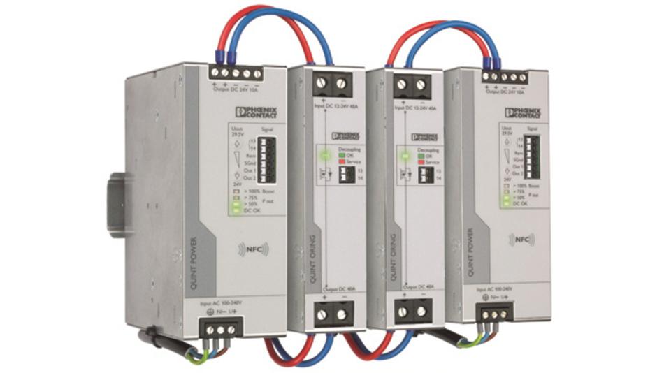Bild1: Redundantes Stromversorgungskonzept gegen Ausfälle: Quint Power und Quint S-Oring