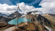 Windpark am Griessee - in den Schweizer Alpen