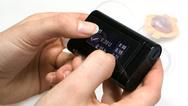 Groß, größer, Insulunpumpe: Das Touchdisplay nimmt fast die gesamte Gehäusefläche ein.