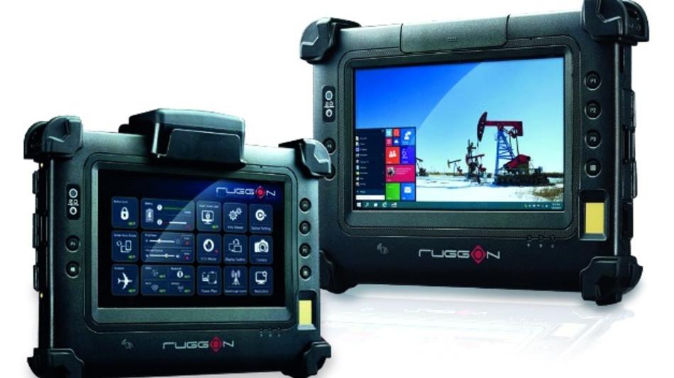 """Das Industrie-Tablet """"PM-311B"""" von Comp-Mall beherrscht optional auch Texterkennung."""