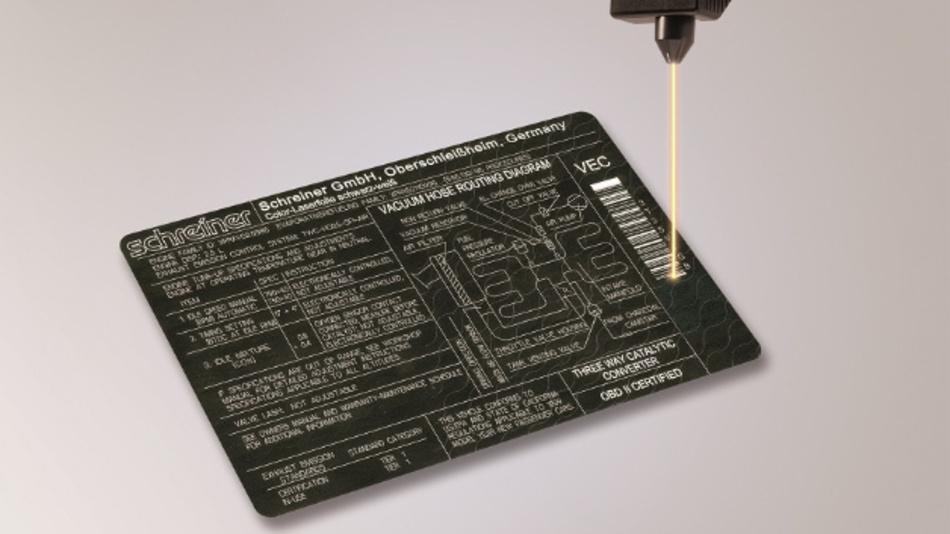 Color-Laser Folie ist ein Nachbeschriftungssystem, das mit variablen Daten beschrieben werden kann.