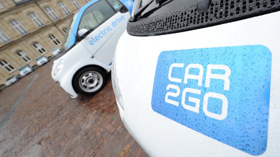Fahrzeuge des Carsharing-Anbieters Car2go.
