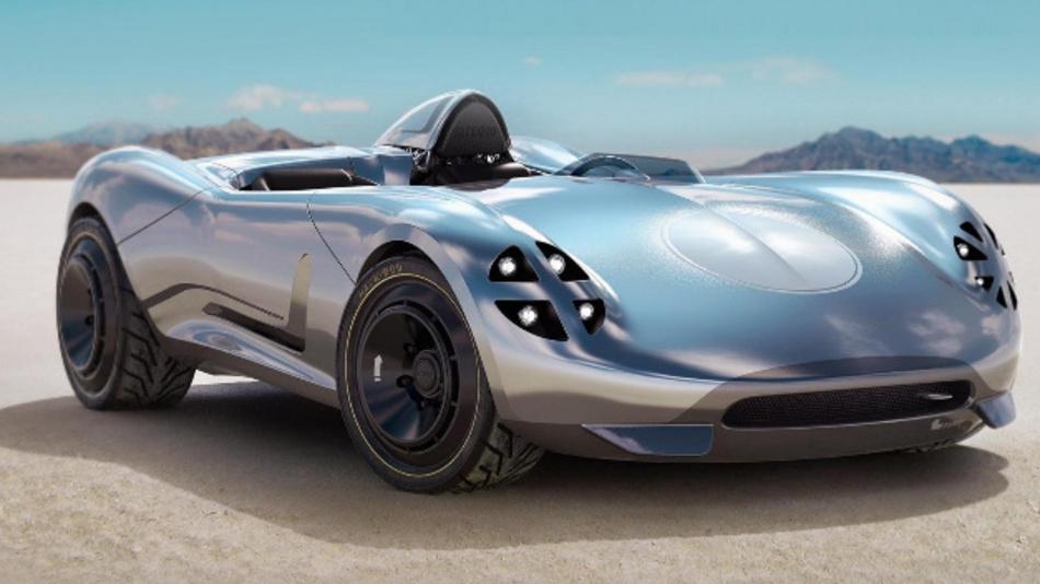 Hackrod und Siemens präsentieren das erste gedruckte Konzeptfahrzeug »La Bandita«.