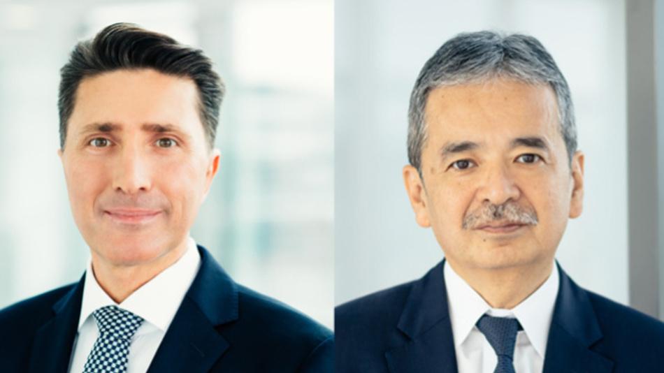 Andreas Wagner (links) folgt Yuji Suwa (rechts) als President der deutschen Niederlassung von Mitsubishi Electric Europe