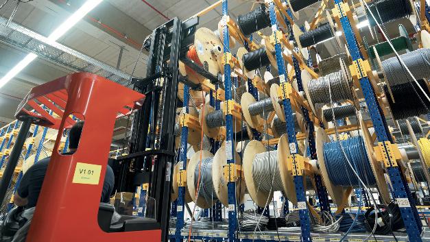 Ein weiteres Highlight im Logistikzentrum ist das Kabellager und der Kabelmeterservice.