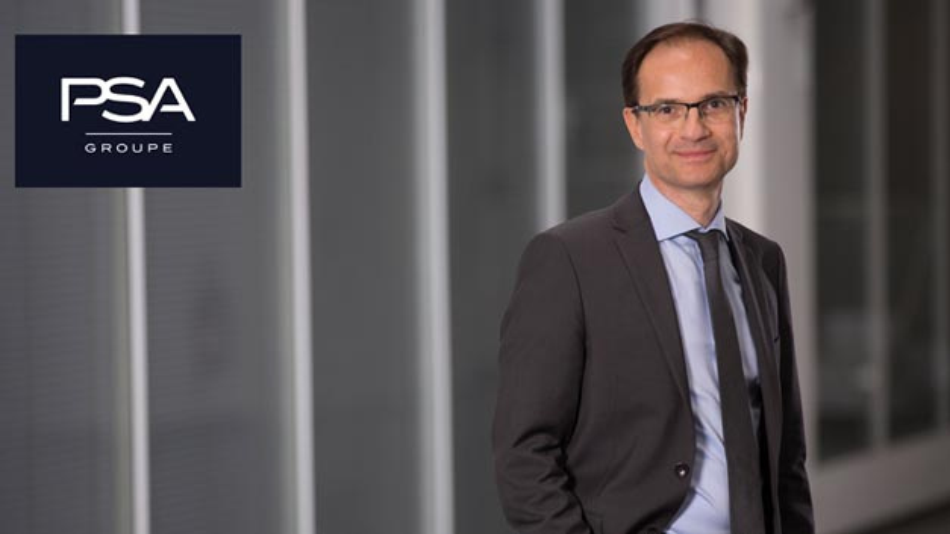 Alexandre Guignard trägt als Senior Vice President die Verantwortung für den neugegründeten Geschäftsbereich Elektrofahrzeuge bei der Groupe PSA.