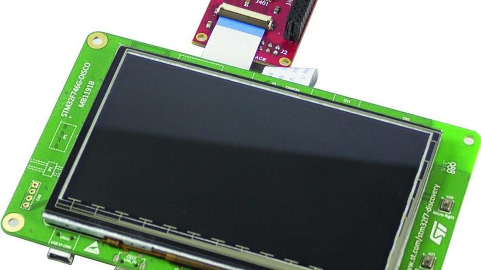 Bild 3: Das Kamera-Entwicklungskit STM32F7 von Avnet Silica.