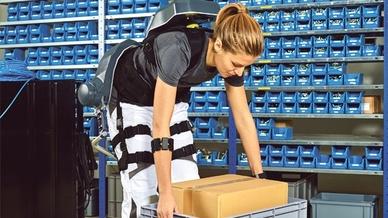 Exoskelett in der Anwendung