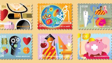 Briefmarken anlässlich des Weltgesundheitstag 2018