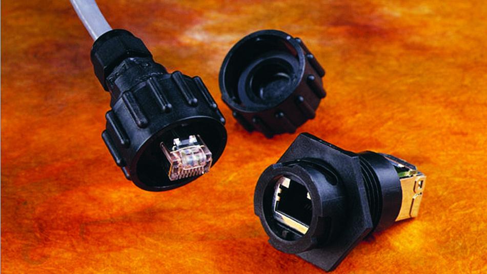 Bild 2. Es gibt RJ45-Stecker und -Buchsen, die mit dem ODVA-Renkverschluss ausgestattet sind.
