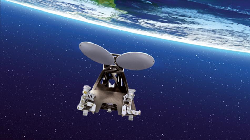 Telekommunikationssatellit: Die additiv gefertigten Halterungen halten der Temperaturspanne von 330°C problemlos stand und genügen den hohen Ansprüchen dauerhafter Aufenthalte im All.